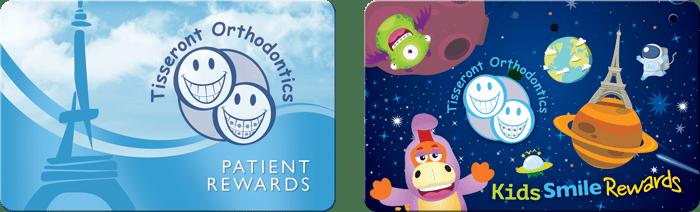 Tisseront Orthodontics - patient reward cards